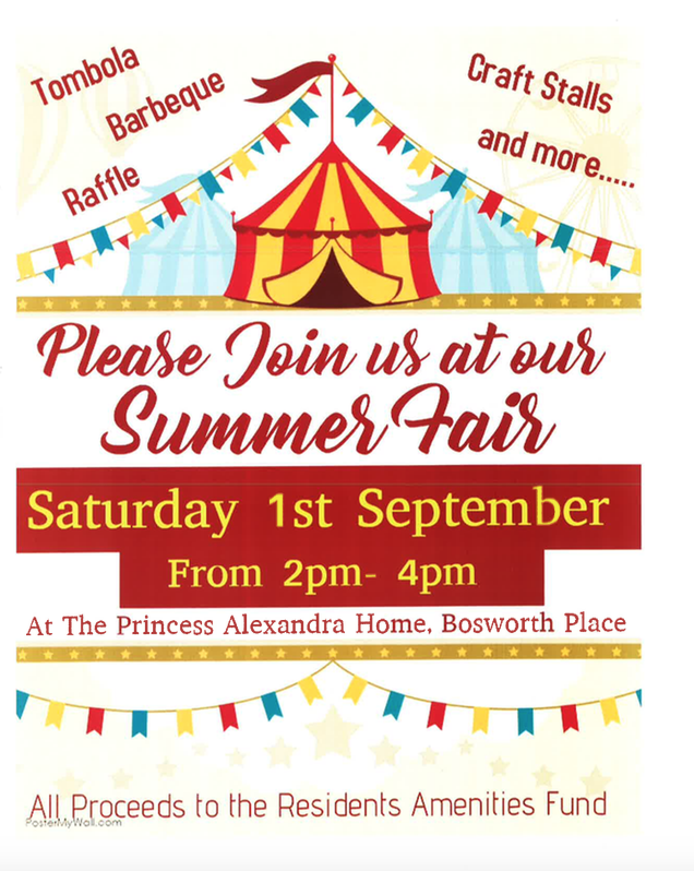 The Princess Alexandra Home, Summer Fair on  Saturday, Sept 1