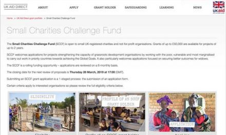 Small development charities can apply for DfID grants up to £50k