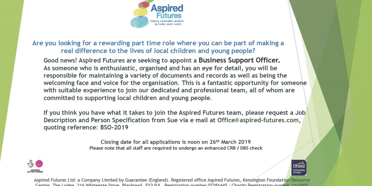 Business Support Officer – Aspired Futures