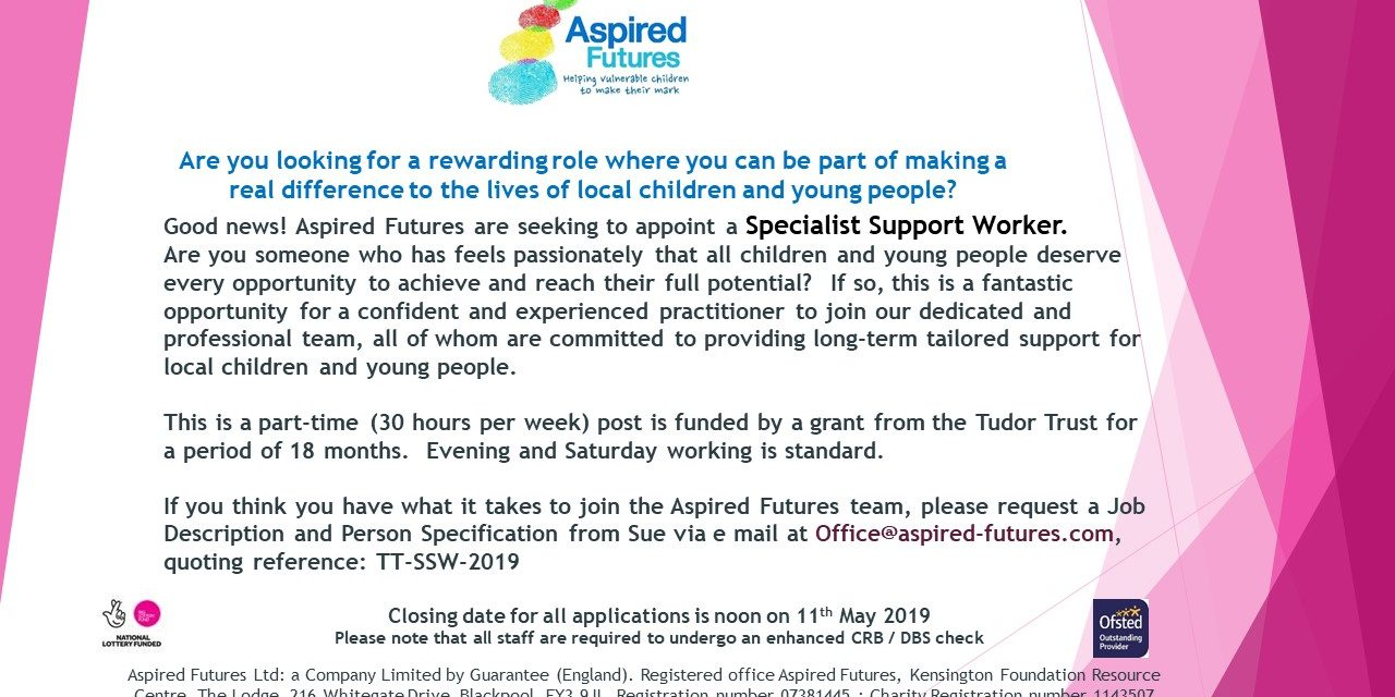 Specialist Support Worker – Aspired Futures