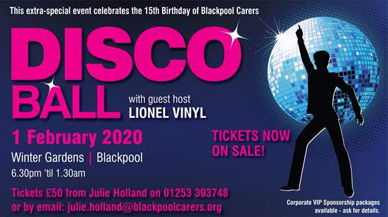 Blackpool Carers Centre Disco Ball