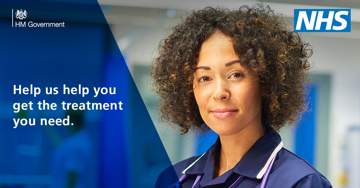 If you need urgent medical help, the NHS is still here for you