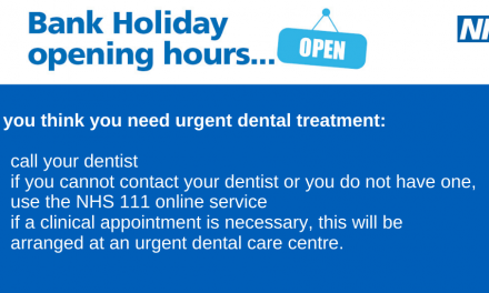 Dental message update for bank holiday