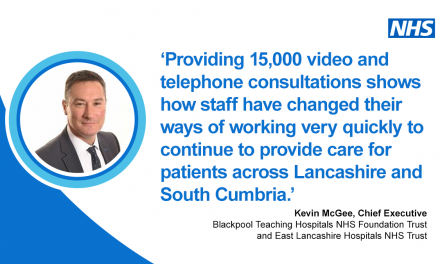 Patients supported by technology to virtually attend hospital appointments across Lancashire and South Cumbria in response to COVID-19