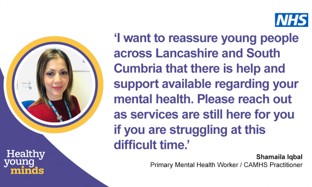 Mental health support available for children and young people in Lancashire and South Cumbria