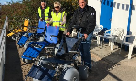 Fleetwood Beach Wheelchairs opens with Phenomenal Success. A First for the Fylde
