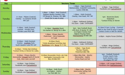 CSI Updated Timetable