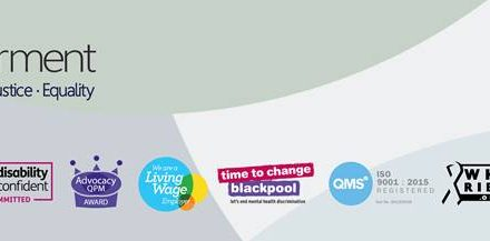 """""""Stay at Home. Knit to laugh. Love Blackpool"""" Empowerment's BESS service craft group project"""