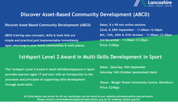 Active Lancashire – New Training Course for September/October 2021