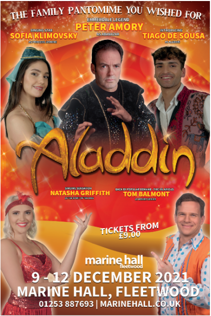 Don't miss Marine Hall's annual Pantomime this December – Aladdin!